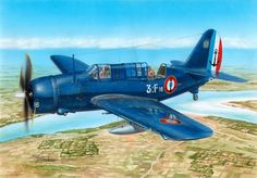 Curtiss SB2C-5 Helldiver French Aéronavale, Indochina, 1954. Art by Stanislav Hajek