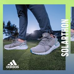 New Drop: adidas #Solarthon Primegreen👟 Confidence in comfort from dawn to dusk.💯 Enjoy sustainable comfort on a full-length BOOST ☁️ midsole with a lightweight water resistant upper made with recycled materials. Get yourself a pair today at any #eGolfMegastore location.⛳ ___ #adidasGolf #adidasgolfshoes #primegreen #adidasSolarthon #golfoutfit #golflook #golfinDubai #golfinAbuDhabi #eGolfMegastore Adidas Golf Shoes, Spikeless Golf Shoes, Adidas Men, Adidas Sneakers, Dubai Golf, Golf Outfit, Nike Free, Footwear, Pairs