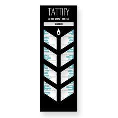 Tattify Aqua Drip Nail Wraps - Seabreeze (Set of 22)