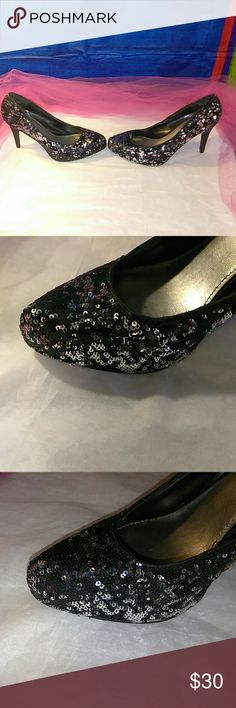 Cato Size 11 heels sequins beautiful!! Nice!! Very nice set of heels size 11 beautiful sequins throughout! Absolutely gorgeous!!!! Cato Other