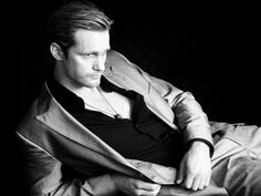 "All 6'4"" of Swedish hotness Alexander Skarsgard (Eric, True Blood) is back on the market. Would it be presumptuous to start calling myself Mrs. Skarsgard now?"