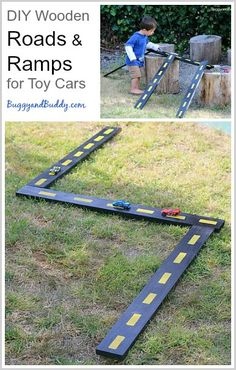 DIY Wooden Roads and Ramps for Toy Cars (Great for both inside and outdoor play!)~ BuggyandBuddy.com