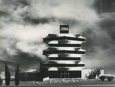 Sede de los Laboratorios JORBA, Madrid, 1965. Arquitecto: Miguel Fisac Serna. Image © C. Jiménez. Fundación Fisac