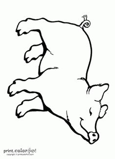 """We think this cute little pig looks like Wilbur (aka SOME PIG) from the book """"Charlotte's Web""""! Regular version: Low-ink printable: The Big Birthday Calendar Book Large print adult coloring books Related Colouring Pages, Coloring Sheets, Coloring Books, Adult Coloring, Charlottes Web Activities, Web Activity, Happy Pig, Pig Crafts, Farm Theme"""