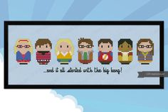 The Big Bang Theory parody  Cross stitch PDF par cloudsfactory