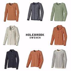 Looking for a knitted sweater? These are now in stores. -Spring/summer 16 collection. #fashion #holebrook #swedishknitwear #SS16 #Spring #summer #knitting #knit #ladies #mens #Coastal #holebrooksweden #design #Wool #cotton #Sweden #trend #svensktmode #kustliv #höst #stickat #tröjor #dam #herr -
