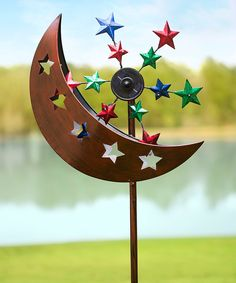 Another great find on #zulily! Moon & Stars Solar Wind Spinner by Plow & Hearth #zulilyfinds