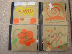 CD-Cover aus Kartonresten / Cd cover made of old cardboard