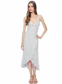 Ella Moss Mallory Stripe Wrap Dress