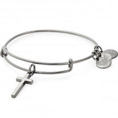 Zoe of Rome Charm. DiamondJewelryNY Double Loop Bangle Bracelet with a St