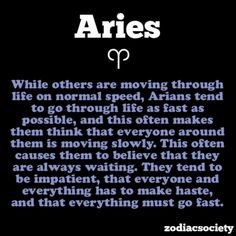 Aries Facts --and they are accurate!
