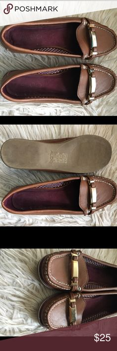Aldo Loafers Brown Aldo Loafers, size 6, worn one time, excellent condition. Aldo Shoes Flats & Loafers