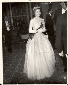1953 The Queen beams at a concert in the Royal Festival Hall, which had been arranged by the governments of Australia and New…