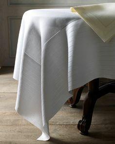 "SFERRA ""Abundance"" Hemstitched Table Linens"