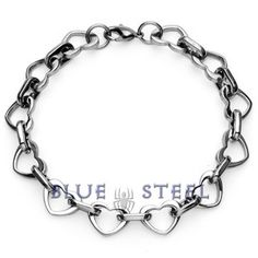 PIN IT TO WIN IT! Heart Linx: This beautifully crafted bracelet is specially made to make you look gorgeous, to reflect your true beauty. These cute linked hearts will surely make you feel special.      $49.00  www.buybluesteel.com