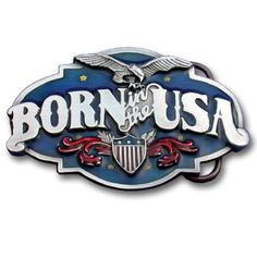 """Checkout our #LicensedGear products FREE SHIPPING + 10% OFF Coupon Code """"Official"""" Born In The USA  Enameled Belt Buckle - Officially licensed Military, Patriotic & Firefighter product Fully cast, metal buckle Bail fits belts up to 2 inches wide Exceptional detail with an enameled finish Patriotic - Price: $21.00. Buy now at https://officiallylicensedgear.com/born-in-the-usa-enameled-belt-buckle-n40e"""