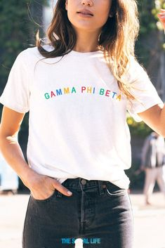 84bcd869 Gamma Phi Beta ABC Tee. Sorority Shirt DesignsSorority ...