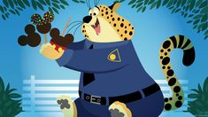 You can't help but love Clawhauser, the treat-loving cheetah and friendly face at the ZPD - that's Zootopia Police Department. In this week's Disney Doodle, artist Ashley Taylor imagined what Clawhauser would do first if he visited a Disney