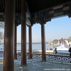 A view out over Kunming Lake at the Summer Palace Beijing