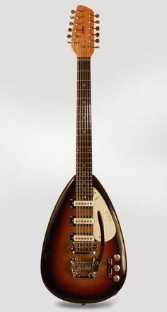 Vox Mark XII 12 String Solid Body Electric Guitar (1966), ser. #239151, original grey hard shell case. | Reverb