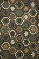 This geometric hexagon pattern features a trendy colors pallete and design.