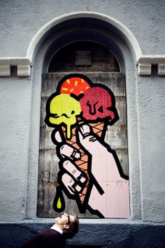 Best of Street art : lick - #ShortyAwards #pinterest