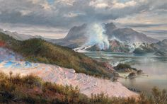 New Zealand's Wonder of the World' rediscovered. Lost to a violent volcanic eruption in the remains of the Pink and White Terraces have been discovered beneath Lake Rotomahana. New Zealand Art, World Globes, Cool Baby Stuff, Natural Wonders, Natural World, Art Google, Vacation Spots, Great Photos, Wonders Of The World