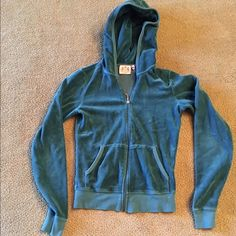 Teal Juicy Sweat Suit Original real juicy sweat suit! Little bit of fading of logo on pants Juicy Couture Other
