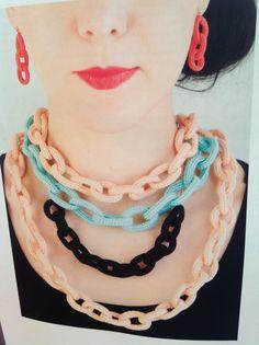 Molla Mills crochet necklaces   #crochet Issue 2