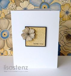 Clean & Simple  Using:  new papers called Pemberley and a new stamp set called Card Word Puzzle