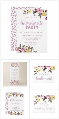 Sweet Rose Watercolor Floral - Wedding Suite