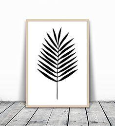 Palm Leaf Art, Palm Leaf Print, Black and White Palm, Palm Leaf Art, Tropical Decor, Tropical Art, Tropical Leaf Print, Minimalist Leaf Art, Palm leaf Art, Black Palm, Tropical Art Print, 8x10 #minimalistdecor