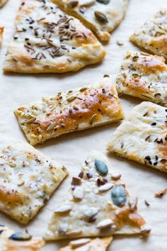 Easy Seeded Flat Bread Crackers | Completely versatile and simple to make. Perfect for wine and cheese or with dip. | www.wildeorchard.co.uk