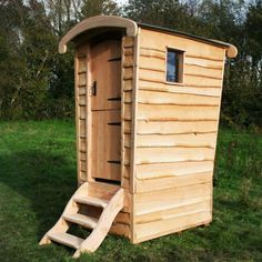 Gypsy Caravan Compost Toilet A stylish wooden composting toilet for your campsite, allotment, school