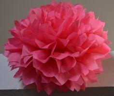 Tissue Paper Pompom Decoration   Honeysuckle or by createandadorn, $3.50