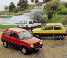 Seat Marbella rebadged Fiat Panda in Fiat Cars van David Hill