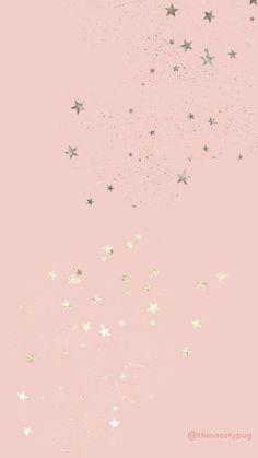 Rose Gold Wallpaper, Star Wallpaper, Pink Wallpaper Iphone, Glitter Wallpaper, Iphone Background Wallpaper, Tumblr Wallpaper, Screen Wallpaper, Iphone Wallpapers, Pink Wallpaper Backgrounds