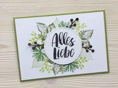 stampin-up-papierformart-kraft-der-natur-kreative-vielfalt-bluetenpoesie Beautiful Handmade Cards, Sympathy Cards, Birthday Wishes, Birthday Cards, Happy Birthday, Card Sketches, Stamping Up, Diy Cards, Stampin Up Cards