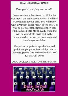 Mary Kay Facebook Party Games