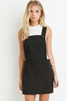Hostess Option, would pair with striped top underneath or white Contemporary Buttoned Overall Dress