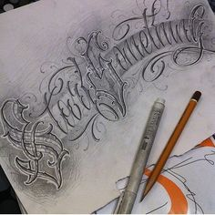 No photo description available. Tattoo Writing Fonts, Calligraphy Fonts Alphabet, Tattoo Fonts Alphabet, Tattoo Lettering Styles, Chicano Lettering, Tattoo Lettering Fonts, Hand Lettering Alphabet, Graffiti Lettering, Lettering Design