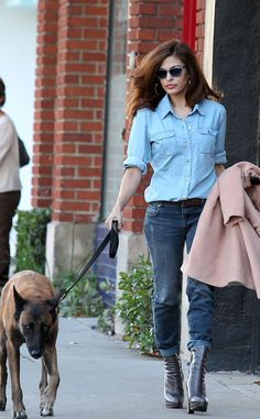 Eva Mendes looks glamorous even when she's dressed down in denim! #style