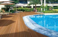 Swimming pool decking should compliment and serve a function and not worry about pool deck repair