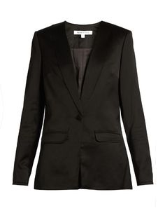 ELIZABETH AND JAMES Evie satin blazer. #elizabethandjames #cloth #blazer