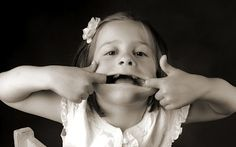 Mom said my face would stay that way and to 'knock it off! What's So Funny, Funny Kids, Cute Kids, Black And White Portraits, Girl Wallpaper, Beautiful Smile, That Way, Baby Photos, Portrait Photography