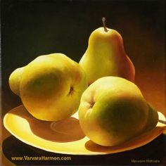 Three Pears, Oil painting Varvara Harmon Oil