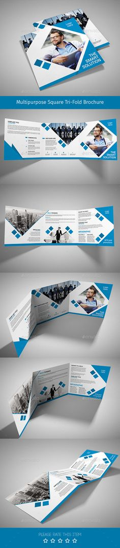 Modern Abstract Green Trifold Brochure Template INDD Graphic
