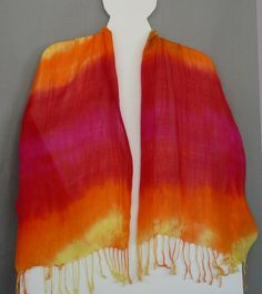 Tissue Rayon Scarf Hand Dyed by SplendiferousFiber on Etsy, $30.00