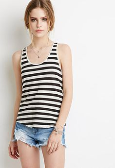 Striped Racerback Tank | Forever 21 | #thelatest