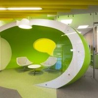 Fresh and funky office interior    Project by za bor architects   Architects Arseniy Borisenko and Peter Zaytsev  Location Benois business center, Saint Petersburg, Russia  Date of project 2011-2012  Floor area 3310 sqm  Photographer Peter Zaytsev